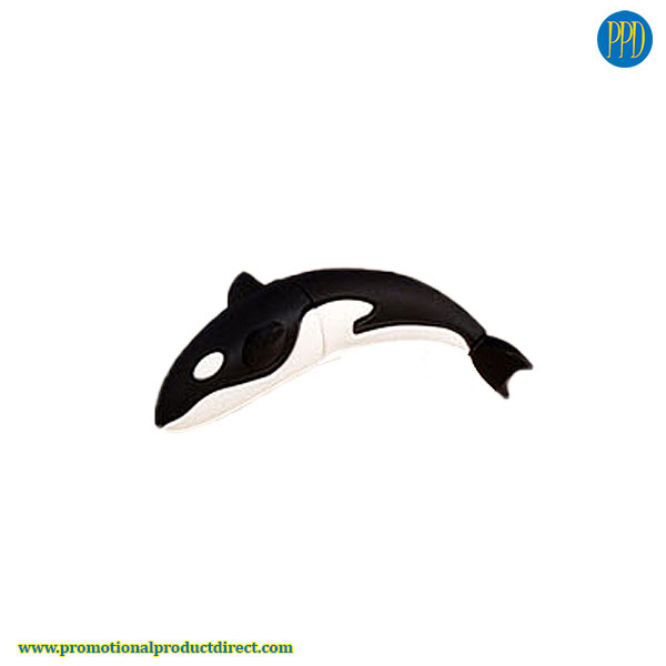 whale custom shaped 3D flash drive USB
