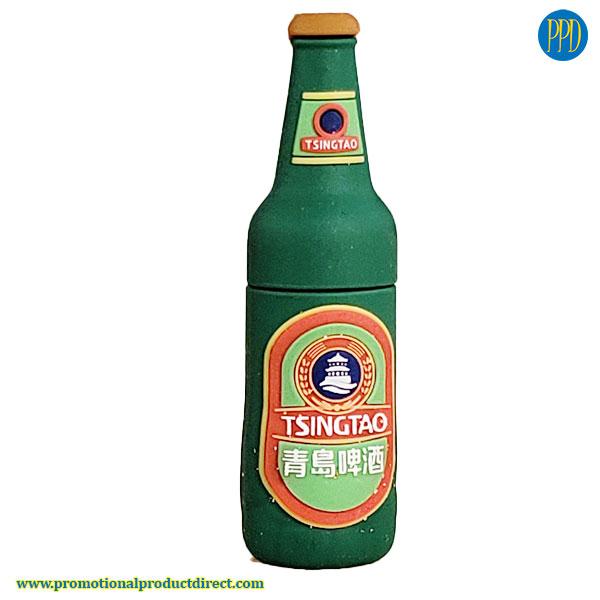 tsingtao beer bottle custom shaped 3 D flash drive