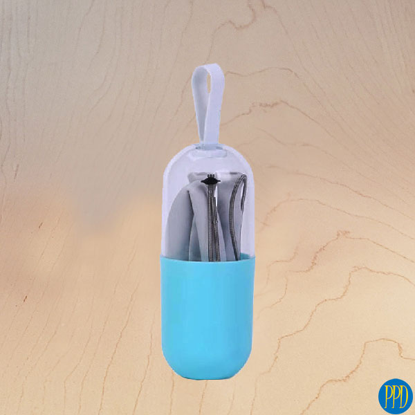 folding silicone drinking straw promotional product direct