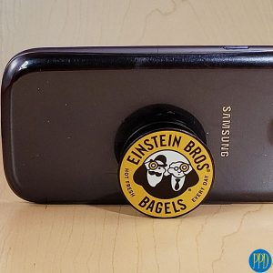 Get your logo with our phone socket grip. Factory direct, inexpensive accordion phone socket grip and stand with full color logo. Free shipping.