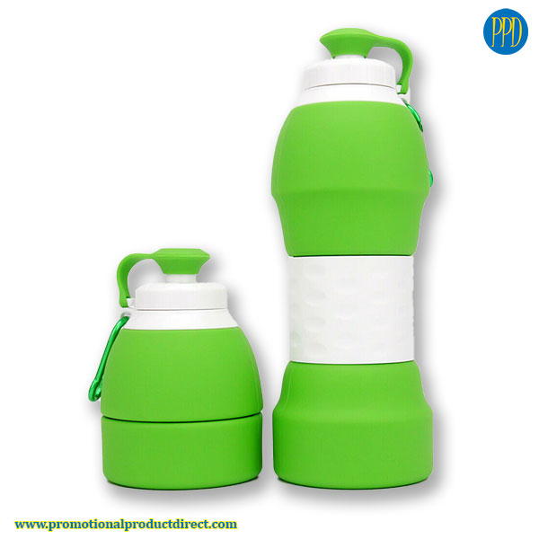 reusable-eco-friendly-collapsible-promotional-silicone-water-bottle--collapse