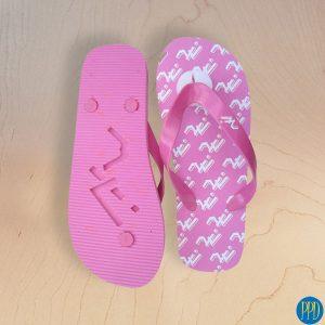 custom logo beach flip flop sandals promotional product