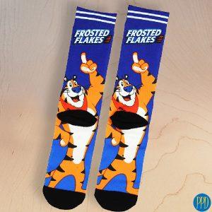 custom logo dye sublimated socks promotional product