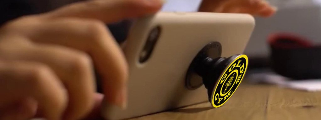 get your logo on a smartphone socket grip and stand