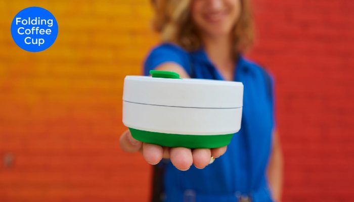 inexpensive factory direct folding collapsible coffee cups