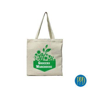 reusable canvas shopping bag