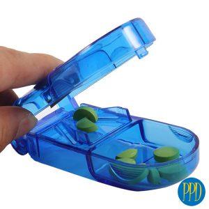 Custom pill case with pill cutter supplier