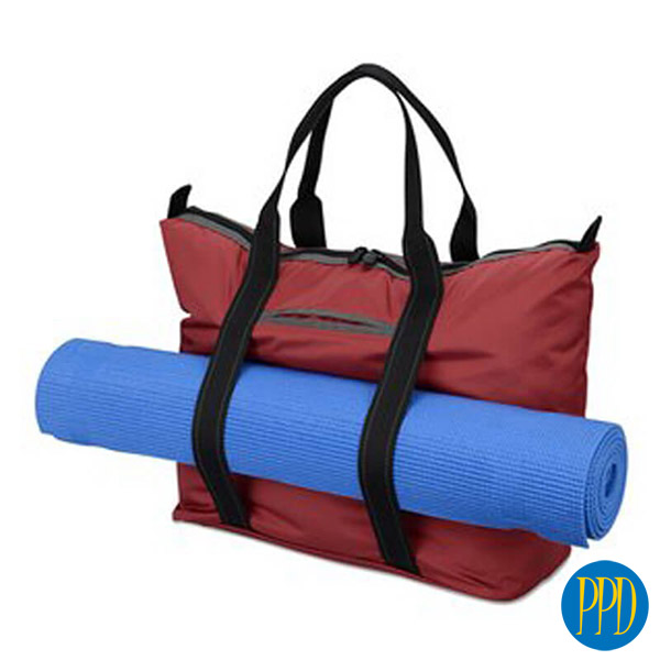 sports bag with yoga matt