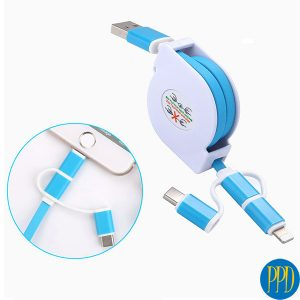 custom data cables with business logo