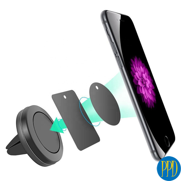 Get your business logo on a magnetic phone holder for car vent