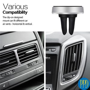 Magnetic car vent holder for phones or tablet