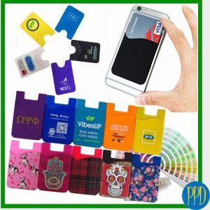 Custom silicone phone wallet