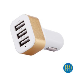 Colorful 3 USB port phone charger for your 12v car lighter input