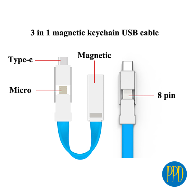 custom cables with business logo