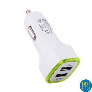 light up 2 USB port car charger