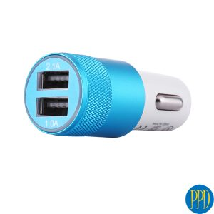 custom logo 2 USB port car charger