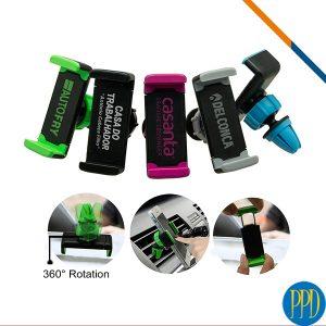 Get your business logo on an adjustable car vent phone holder