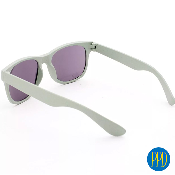 Wheat Straw Sunglasses. The perfect eco friendly summer promo giveaway is made from eco friendly wheat fiber. Perfect for any eco friendly promotions.  Call 1-888-880-2714. Save 40% go Promotional Product Direct.